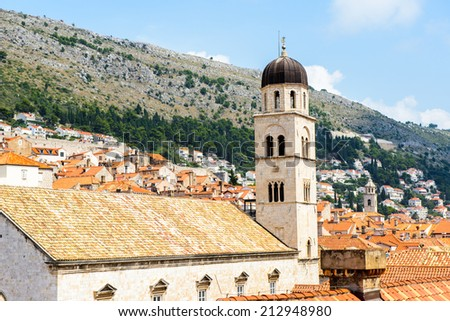 Architecture of the Old town of Dubrovnik, Croatia.
