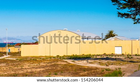 Architecture of the Robben Island - stock photo