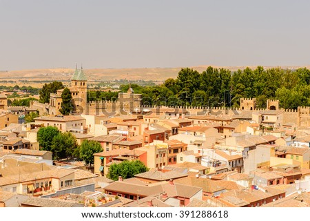Architecture of Toledo, Spain, UNESCO World Heritage - stock photo