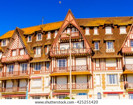 Architecture of Trouville, Normandy, France.