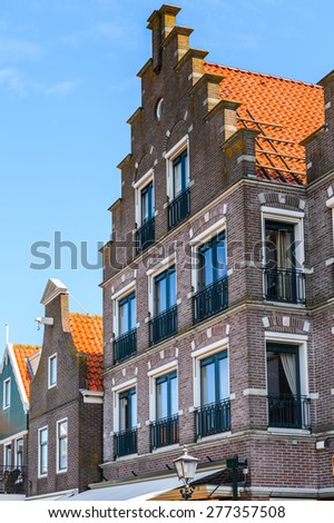 Architecture of Volendam, North Holland, Netherlands
