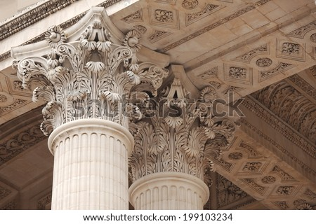 Architecture, old greek temple style - stock photo