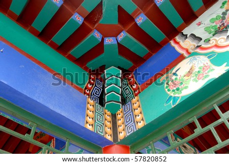Architecture, Oriental, pattern, roof, - stock photo