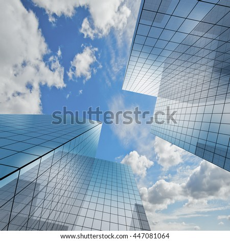 Architecture project. Concept 3d rendering - stock photo