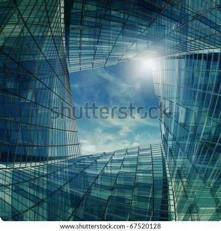 Architecture tunnel - stock photo