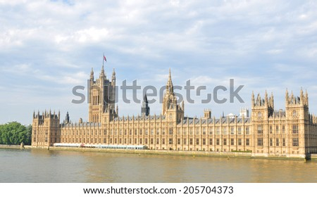 Architecturel of the Westminster in London, UK