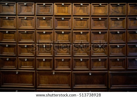 Archive - drawers