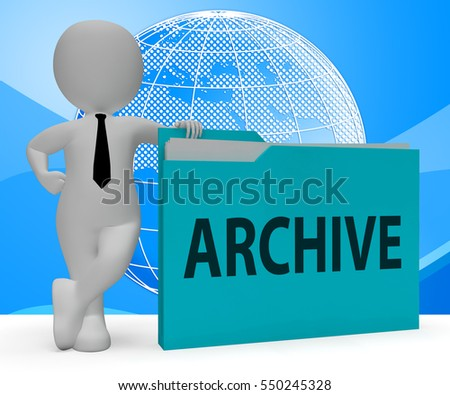 Archive Folder Character Meaning Collection Arranging 3d Rendering