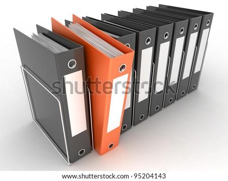 archive folders - stock photo