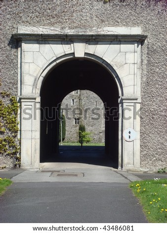 Archway at St. Patrick's College Maynooth, NUI - stock photo