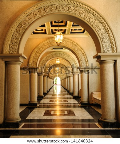 Archway in architecture building - stock photo