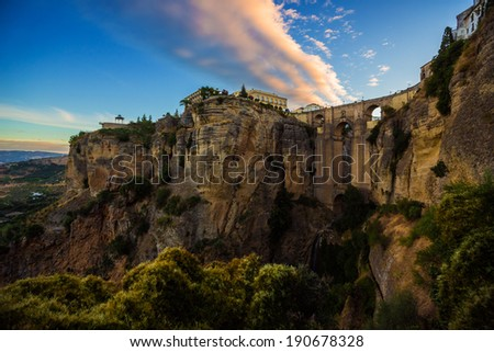 Archway - Ronda, Spain - stock photo