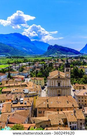 Arco, Trentino, Italy - views of the city - stock photo