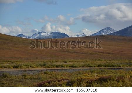 Arctic River Valley - stock photo