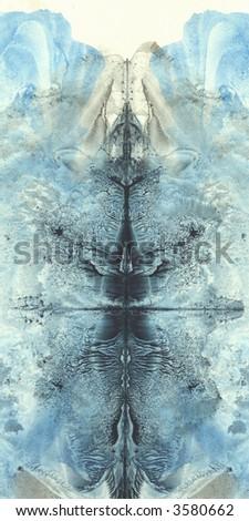 Arctic texture. Iceberg like paint spots. - stock photo