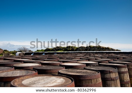 Ardbeg distillery on Islay - stock photo