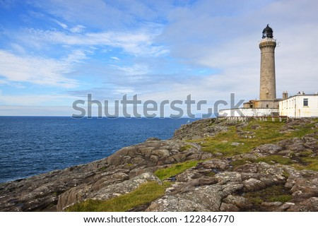 Ardnamurchan Lighthouse, Kilchoan, Acharacle, Scotland. The most westerly point on the British Isles mainland. - stock photo