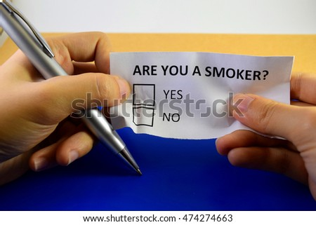 Are you a smoker? Smoking is bad for health, be wise, quit smoking early.