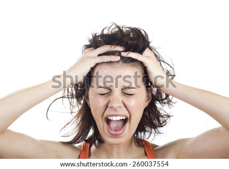 Are you crazy woman - stock photo