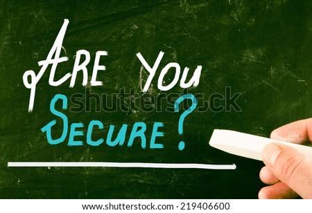 are you secure concept - stock photo