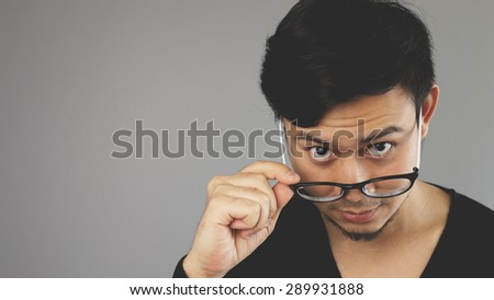 Are you sure what you have just said? - stock photo