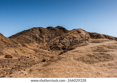Area called Moon Landscape, Desert of Namibia, Africa