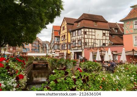 "Area ""Little Venice"" in Colmar. France. Europe - stock photo"