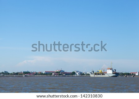 areas of the transportation industry. Sea freight shipment size. - stock photo