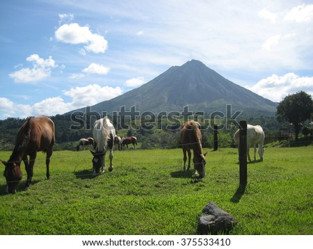 Arenal Volcano, Costa Rica. - stock photo