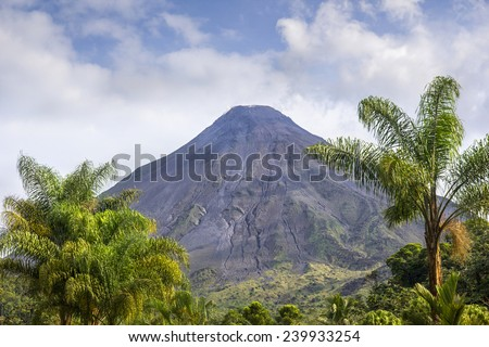 Arenal Volcano in Costa Rica - stock photo