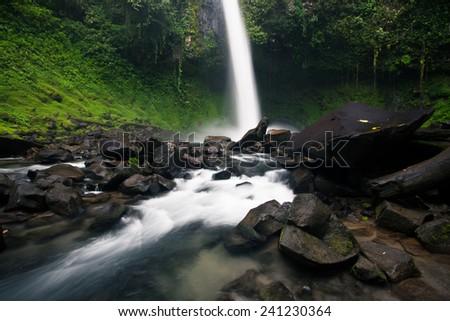 Arenal waterfall in Costa Rica - stock photo