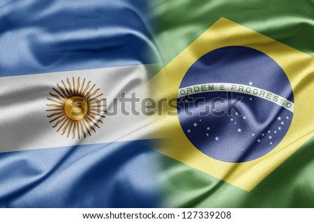 Argentina and Brazil - stock photo