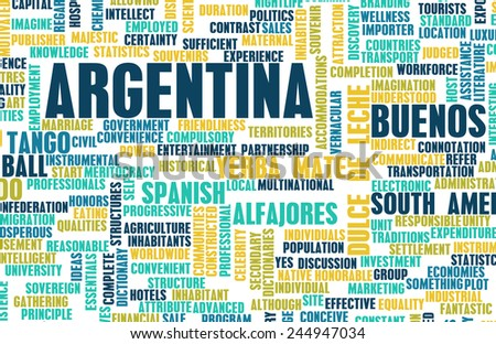 Argentina as a Country Abstract Art Concept