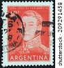 ARGENTINA - CIRCA 1959: A stamp printed by ARGENTINA shows image portrait of general  Jose de San Martin, circa 1959. - stock photo