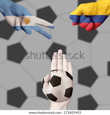 Argentina Colombia Ball  Rock-Paper-Scissors