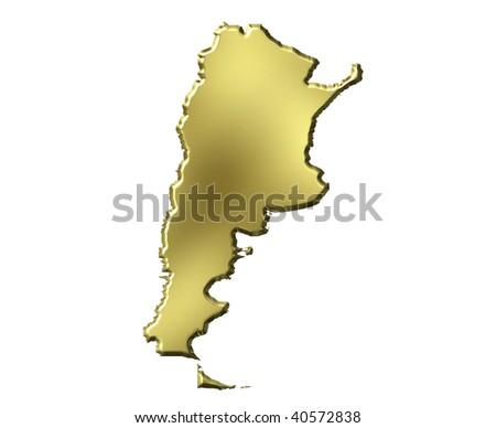 Argentina Map D Stock Images RoyaltyFree Images Vectors - Argentina 3d map