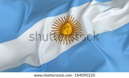 Argentina Flag - stock photo
