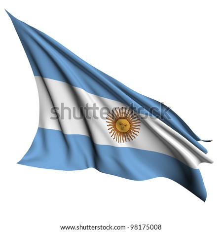 Argentina flag - collection no_4 - stock photo