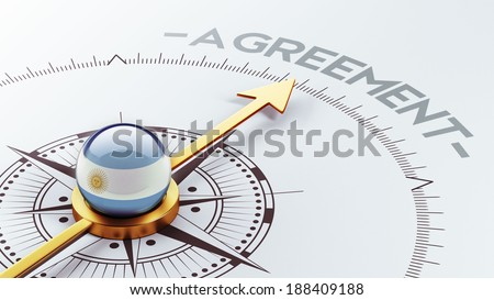 Argentina High Resolution Agreement Concept - stock photo