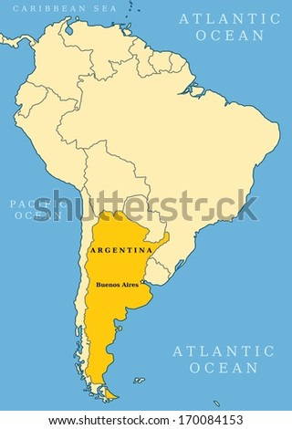 Argentina locator map country capital city stock illustration argentina locator map country and capital city buenos aires map of south america gumiabroncs Image collections