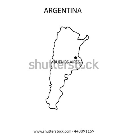 Argentina Map Outline Stock Illustration Shutterstock - Argentina map outline