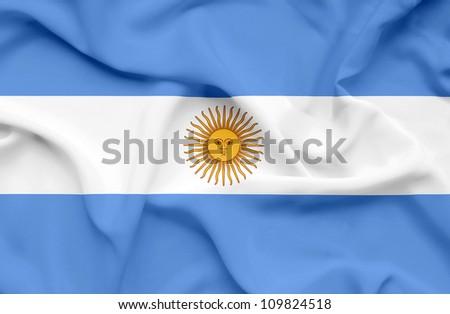 Argentina waving flag - stock photo