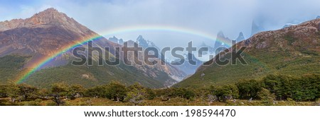 Argentine Patagonian Mountains - stock photo