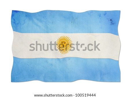 Argentinian flag made of paper. - stock photo