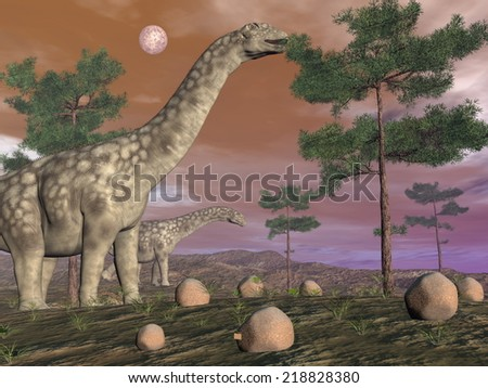 Dinosaur Eating Trees Dinosaurs Eating at The