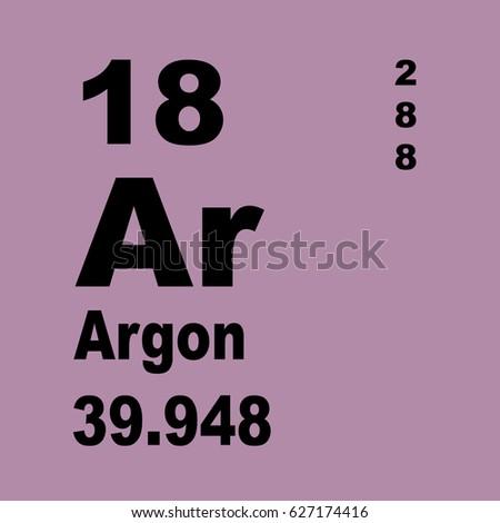 Argon Periodic Table Elements Stock Illustration 627174416