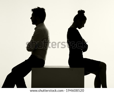 Arguing couple - stock photo