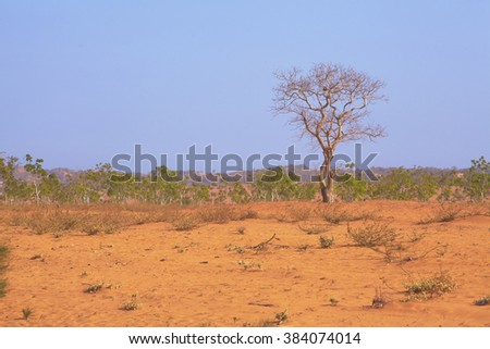 Arid desert locations Asia - stock photo