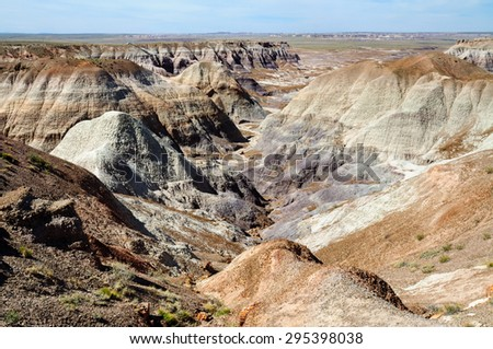 Arid Valley at Petrified Forest National Park