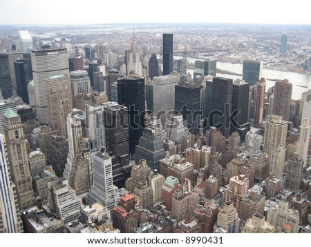 ariel view of New York City